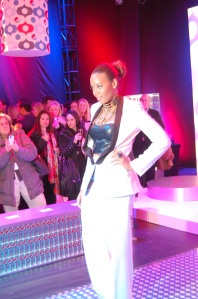 Angela Simmons at the Diet Pepsi Style Studio in NYC