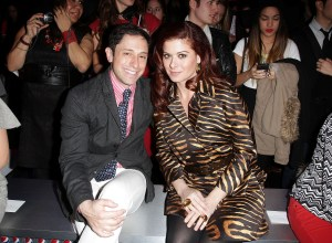 Jonathan Adler & Debra Messing atthe Diet Pepsi Style Studio Fashion Show in NYC 2.9.12