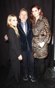 Mary-Kate Olsen, Simon Doonan,Debra Messing Backstage at the Diet Pepsi Style Studio Fashion Show2.9.12